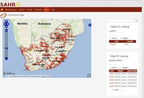 Cases and Report Map for find current cases and older archive report via mapid or caseid