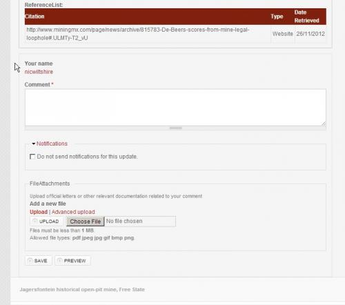 To add comments click on Add New Comment and enter your comment with uploaded docs if needed