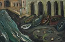 Irma Stern 'Fishing Boats, Amalfi'