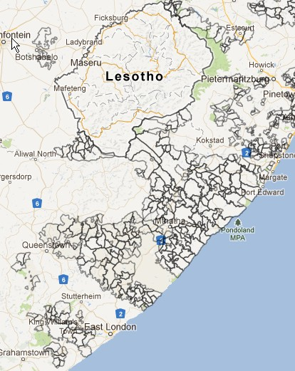 Mapping - view of tribal authorities